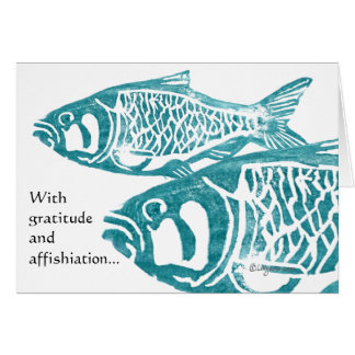 Funny Fish Gratitude Greetings Thank You Cards