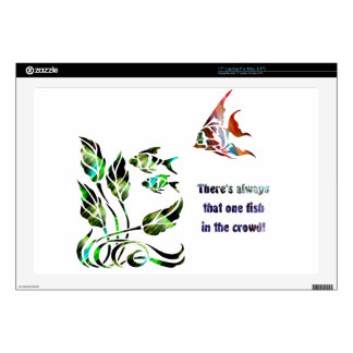 Funny Fish in the Crowd Decals For Laptops