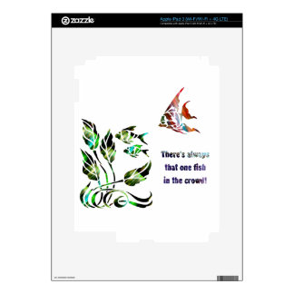 Funny Fish in the Crowd iPad 3 Decal