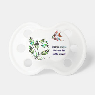 Funny Fish in the Crowd Pacifier
