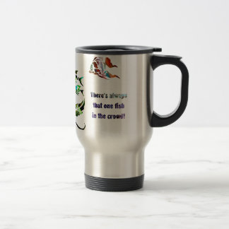 Funny Fish in the Crowd Travel Mug