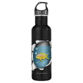 Funny Fish Inside Trompe L'oeil Stainless Steel Water Bottle