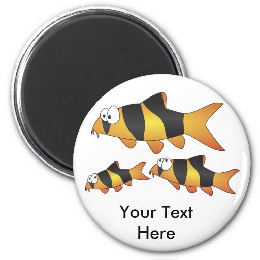 Funny fish magnet