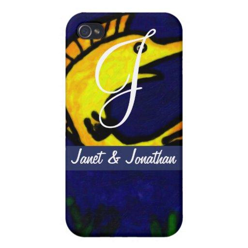 Funny Fish Monogram iPhone 4/4S Cover