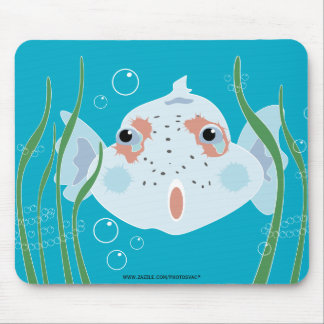Funny Fish Mouse Pad