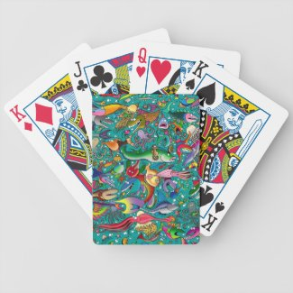 """""""Funny Fish"""" Playing Cards"""