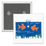 funny fish pondering golf balls underwater button