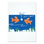 "funny fish pondering golf balls underwater 5"" x 7"" invitation card"