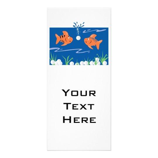 funny fish pondering golf balls underwater rack card