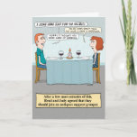 """Funny Fish Puns Birthday Card<br><div class=""""desc"""">This funny birthday card features a couple at a restaurant who can&#39;t stop making fish puns,  just for the halibut. Let minnow if you like it!   &#169; Chuck Ingwersen</div>"""