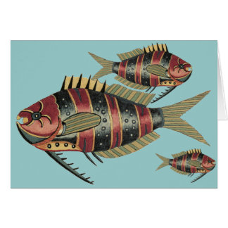 Funny Fish Striped Card