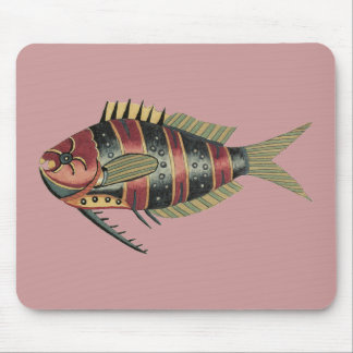 Funny Fish Striped Mousepads