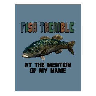 Funny Fish Tremble Postcard