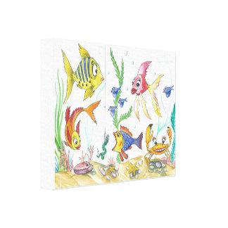 "Funny Fish ""Under the Sea"" Canvas Print"