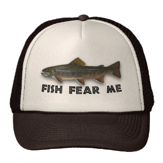 Funny Fisherman  Fish Fear Me Mesh Hats