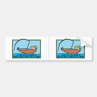 Funny Fisherman's Car Bumper Sticker