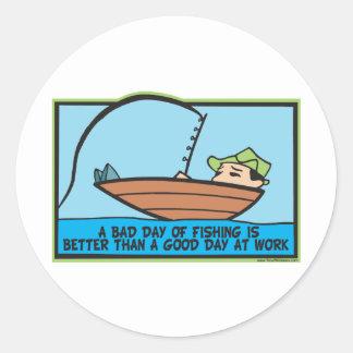 Funny Fisherman's Classic Round Sticker