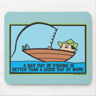 Funny Fisherman's Mouse Pad
