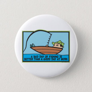 Funny Fisherman's Pinback Button