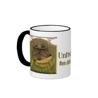 Funny Fishermans Pub Sign Coffee Mug