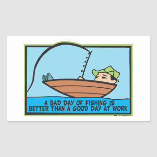 Funny Fisherman's Rectangular Sticker