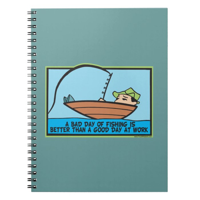 Funny Fisherman's Spiral Notebook