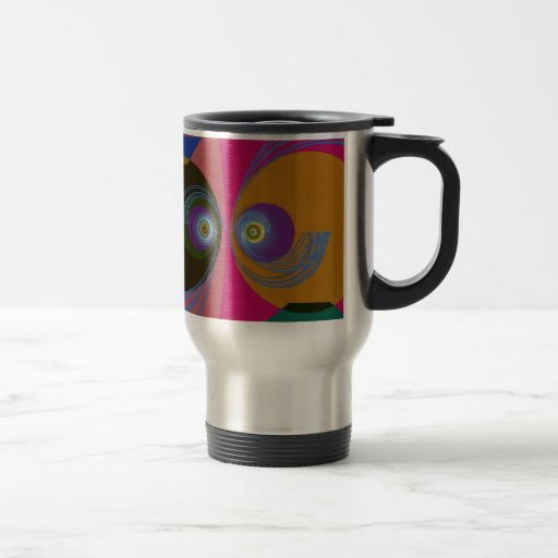 Funny fishes 15 oz stainless steel travel mug