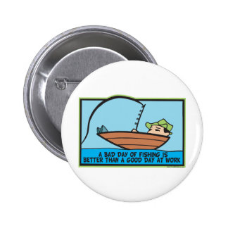Funny Fishing 2 Inch Round Button