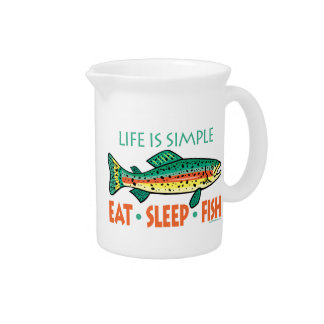 Funny Fishing Beverage Pitchers