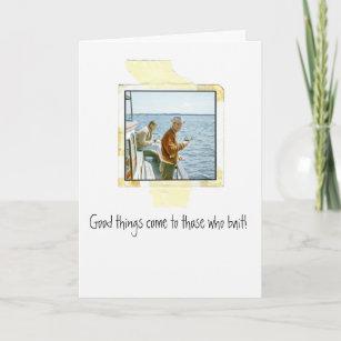 Funny Fishing Birthday Card