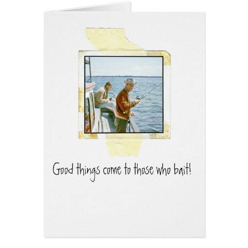 Funny fishing birthday greeting card zazzle for Fishing birthday cards
