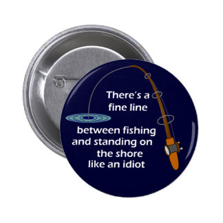 Funny Fishing Button