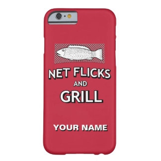 Funny Fishing Cast Net Fish Joke Parody Barely There iPhone 6 Case