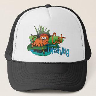 Funny Fishing - Cat Fishing Trucker Hat