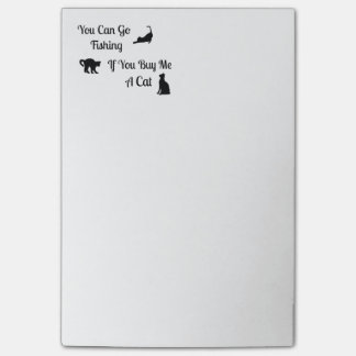 Funny Fishing Cat Post-It-Notes Post-it® Notes