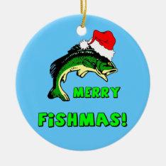 Funny Fishing Ceramic Ornament at Zazzle