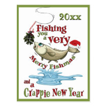Funny Fishing Christmas - Merry Fishmas Mistletoe Postcard