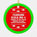 Funny fishing christmas ornament