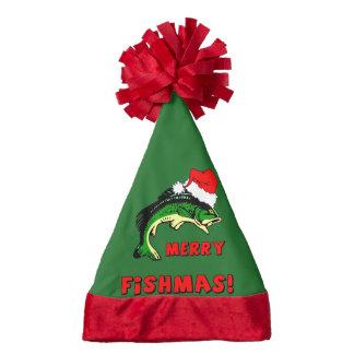 funny fishing Christmas Santa Hat