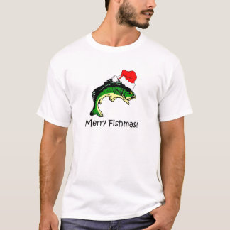 Funny fishing Christmas T-Shirt