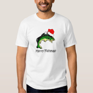 Funny fishing Christmas Tshirts