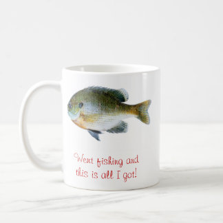 Funny fishing coffee cut coffee mug