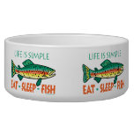 Funny Fishing Dog Food Bowl