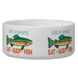 Funny Fishing Dog Food Bowls