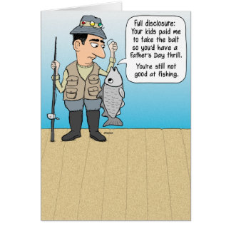 Funny Fishing Father's Day Card