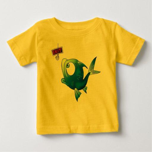 Funny fishing fish baby t shirt zazzle for Baby fishing shirts