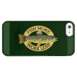 Funny Fishing - FISH MORE - WORK LESS Clear iPhone SE/5/5s Case