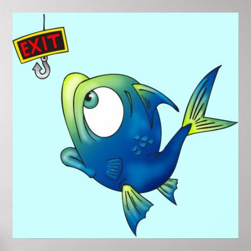 Funny Fishing Fish Print