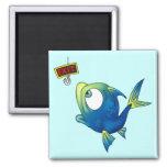 Funny Fishing Fish Refrigerator Magnet