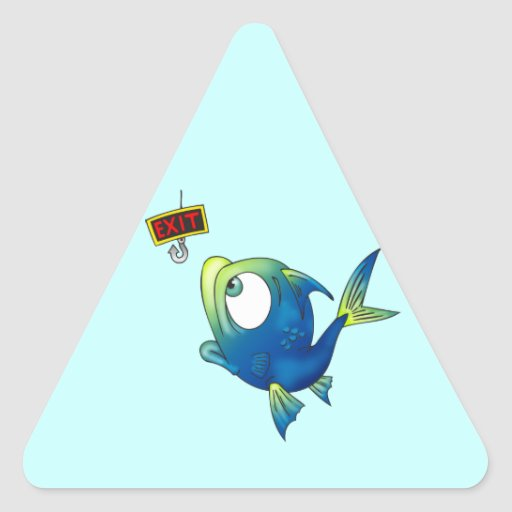 Funny Fishing Fish Stickers